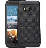 Hello Zone Exclusive Dotted Matte Finish Soft Back Case Cover For HTC One Me dual sim -Black