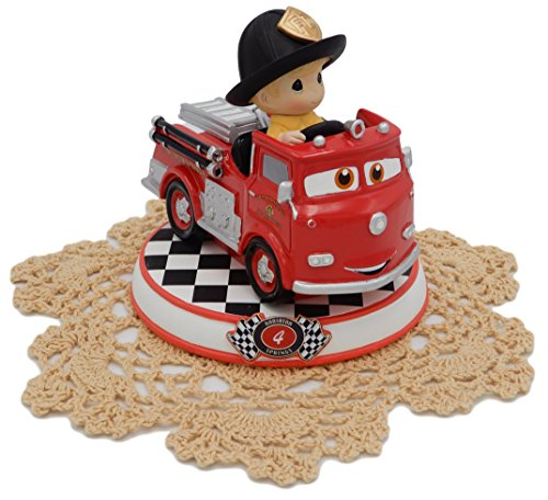 Precious Moments Disney Showcase Cars Collection Resin Figurine with Westbraid Doily (#4, Red, 164434) Joseph Prince 2017 Christmas