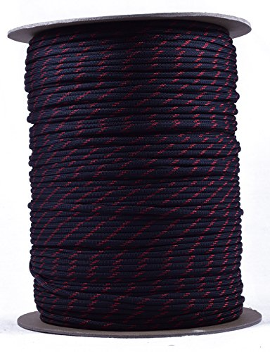 BoredParacord Brand Paracord (1000 ft. Spool) - Thin Red ...