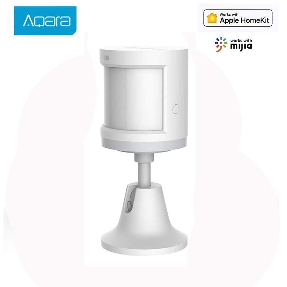Aqara Sensor de Movimiento, Aqara Mini Detector de Movimiento Sensor de Detección Inteligente de Seguridad para Sistema de Alarma de Seguridad/Domótica Inteligente, Compatible con MiHome HomeKit