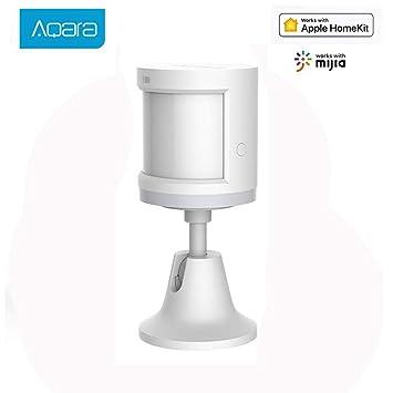 Aqara Sensor de Movimiento, Aqara Mini Detector de Movimiento Sensor de Detección Inteligente de Seguridad para Sistema de Alarma de ...