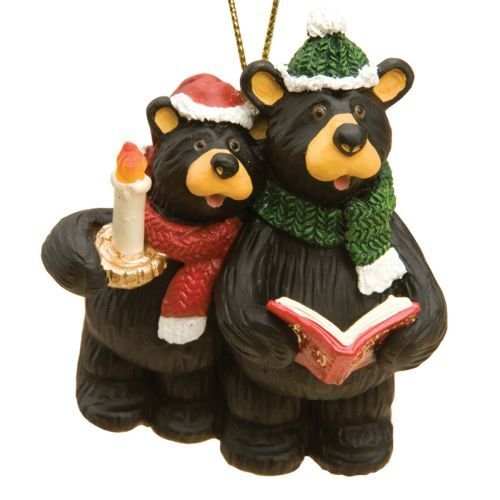 bearfoots bears christmas carolers ornament