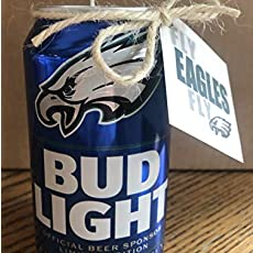 """Tom Brady-Limited Edition /""""GOAT/"""" Tribute Beer Can Candle"""