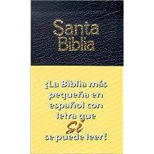 Santa Biblia: La Biblia mas pequena en espanol con letra que se puede leer! (Spanish Edition)
