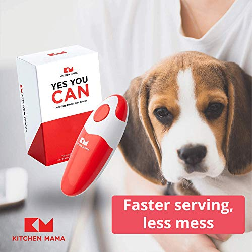 Kitchen Mama Electric Can Opener Open Your Cans With A Simple Push Of Button No Sharp Edge Food Safe And Battery Operated Handheld Can Opener Red Pricepulse