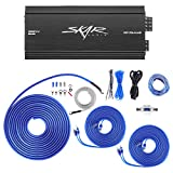 Skar Audio RP-75.4AB 500 Watt 4-Channel Car Amplifier with 8 Gauge Ofc Amp Wiring Kit Bundle