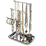 H Potter Jewelry Organizer Necklace Holder Tree Tower 3 Tier Display Stand Tabletop Bracelet Ring Tray