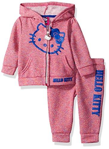 Hello Kitty Baby Girls' 2 Piece Hooded Fleece
