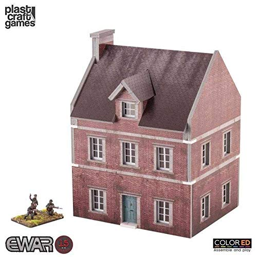 Plast Craft Games EWAR WWII Colored Miniature Gaming Model Kit 15 mm Townhouse ()