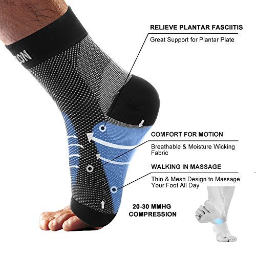 Portzon Compression Foot Sleeves, Plantar Fasciitis Socks with Arch Support, Foot Care Compression Sleeve, Eases Swelling & Heel Spurs, Ankle Brace Support, Relieve Pain Fast by Portzon (Image #1)