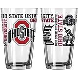 NCAA Ohio State - Spirit Pint Glasses (2) | OSU Buckeyes 16 oz. Beer Pints - Set of 2