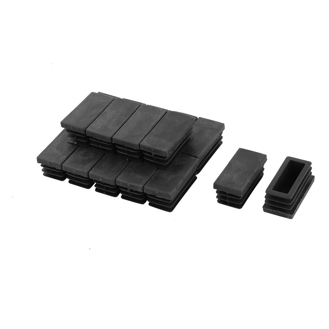 20 Pieces Black Plastic Blanking End Caps Pipe Inserts 20mm x 40mm uxcell a14082800ux0074