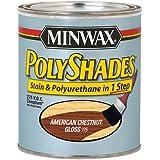 Minwax 617750444 PolyShades - Stain & Polyurethane in 1 Step, quart, American Chestnut, Gloss
