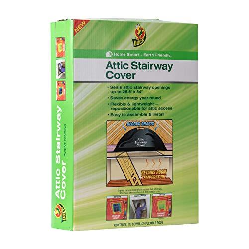 Duck Brand 286209 Stairway Attic Cover, Black (Attic Door Seal)