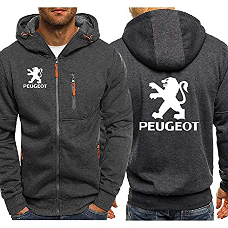KGKYK Sudadera con Capucha Peugeot Car Logo Print Casual Hip Hop ...