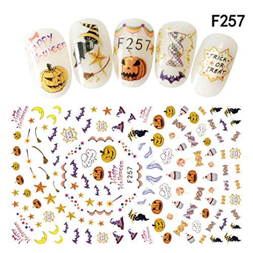 Halloween Nail Sticker Nail Decoration Horror Design (B)