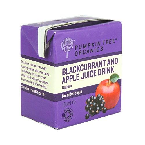 Pumpkin Tree Organics - From 6 Months - Organic Blackcurrant & Apple Juice Drink - 150ml (Case of (150 Ml Case)