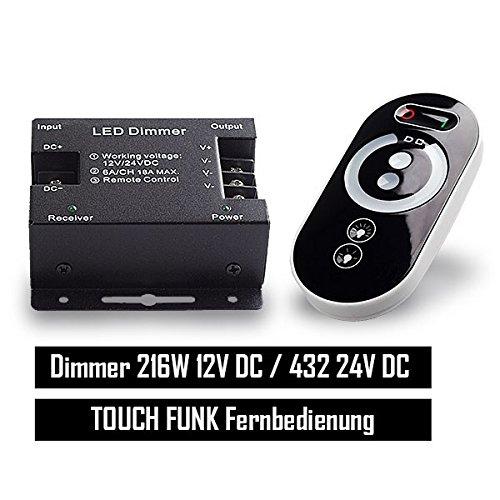 Mextronic LED RF TOUCH Dimmer Steuerung LED Strips Dimmer PWM 12/24V bis 18A Touch RF-Fernbedienung Regler Kontroller