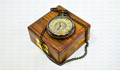 Hamilton White Pocket Watch - Sailor's Art Antique Brass Christ Pocket Watch