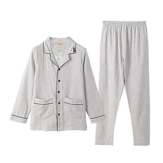 Pijamas Hombre Primavera Y Verano Algodón Manga Larga ...