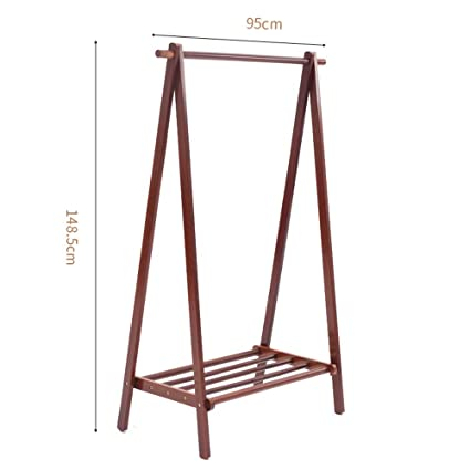 40eb28df8bac Amazon.com: YX Xuan Yuan Wooden Coat Rack,Adjustable Clothing Rail ...