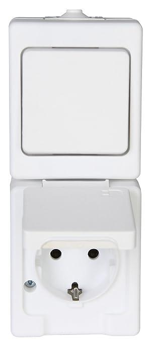 Kopp Standard Steckdose Und Schalter Kombination Für Feuchtraum