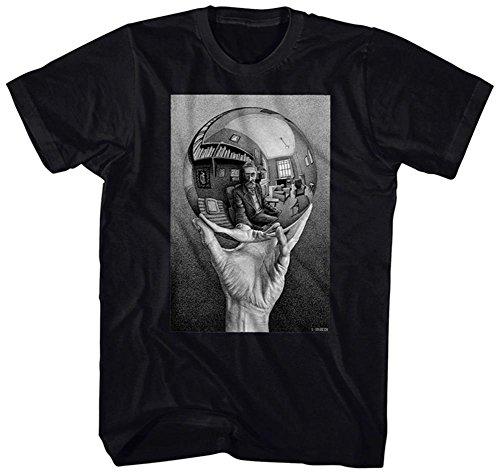 M.C. Escher- Self-Portrait In Spherical Mirror T-Shirt Size L