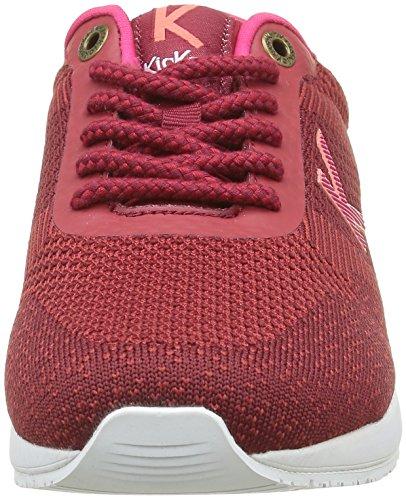 Fuchsia Rosso Da Scarpe Fushia Bordeaux Ginnastica Donna Knitwear Kickers bordeaux EzqxXX