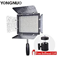 Free Mini Ball Head,YONGNUO YN300 III LED On Camera Video Light with 3200K-5500K Color Temperatur e and Adjustable brightness for Canon Nikon Sony Camera Camcorder