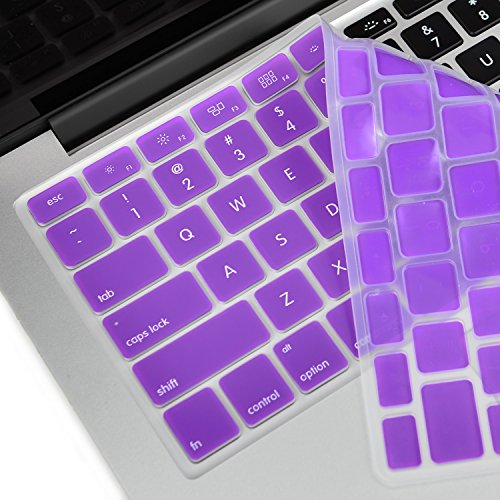 """TopCase® PURPLE Keyboard Silicone Cover Skin for Macbook 13"""" Unibody / Macbook Pro 13"""" 15"""" 17"""" with or without Retina Display+ TOPCASE® Mouse Pad"""