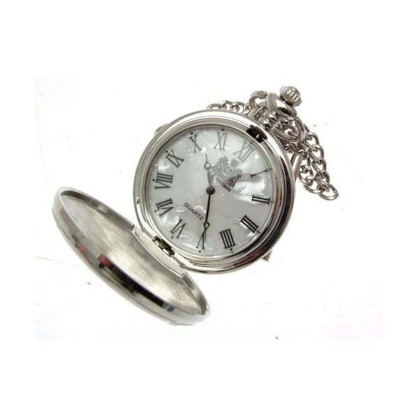Solid-Pewter-Fronted-Flying-Scotsman-Design-58-Mother-Of-Pearl-Quartz-Pocket-Watch
