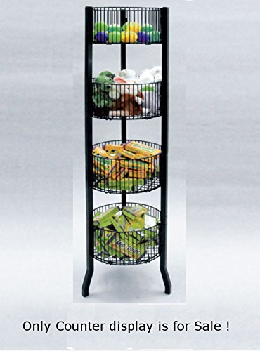 black dump Bin 4-tier Round Utility Impulse Holds a Variety of Products