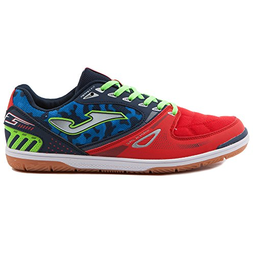 Joma Sala Max, Zapatos de Futsal Unisex Adulto Red-Black-Green