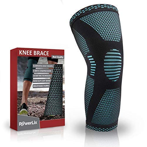 PowerLix Compression Knee Sleeve - Best Knee Brace for Meniscus Tear, Arthritis, Quick Recovery etc....