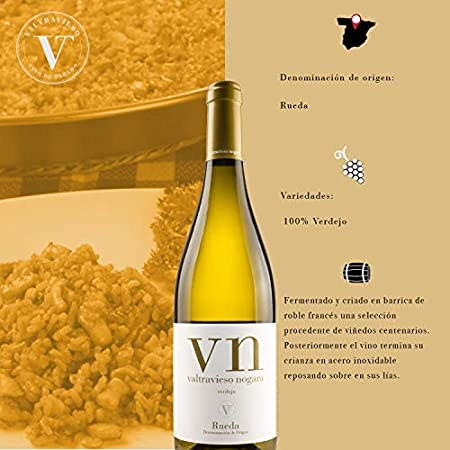 Vino Blanco Verdejo 100% D.O. Rueda - Valtravieso - Estuche de 6 botellas