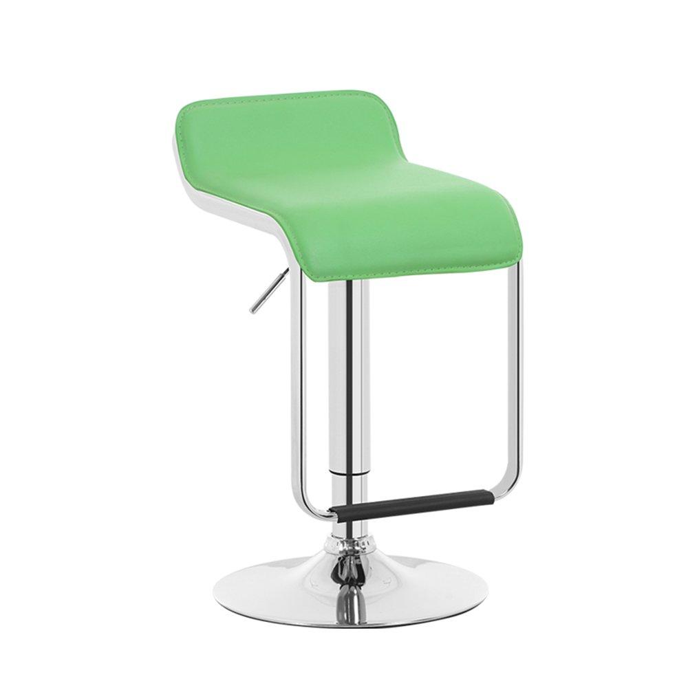 LVZAIXI Bar stool, Bar Iron High stool redate Cafe Counter High Back Creative Retro Tall Front Desk Kitchen Chair European High 7090cm (color   Green)