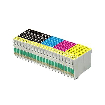 20 compatibles cartuchos de tinta de impresora (4 series de 4 + 4 negras) para Epson Stylus SX125 SX130 S22 SX420W SX425W SX445W BX305F BX305FW SX230 ...