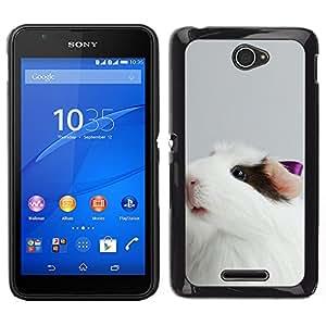 LECELL--Funda protectora / Cubierta / Piel For Sony Xperia E4 -- Guinea lindo del cerdo --