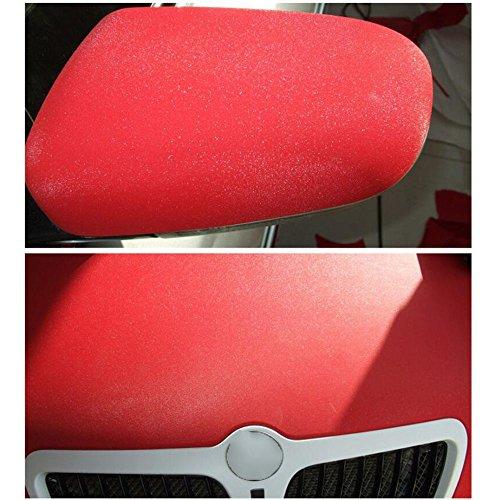 HOHO 1.52Mx18M Red Glitter Car Vinyl Sticker Car Wrap Vinyl with Air Bubble Release Technology by HOHO