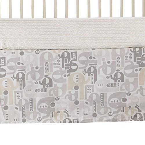 Lolli Living Naturi Crib Bed Skirt - Elephant Print