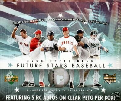 (2006 Upper Deck Future Stars Baseball Hobby Box (24 packs/box, average of 5 autographs per box plus cards of top rookies & prospects))