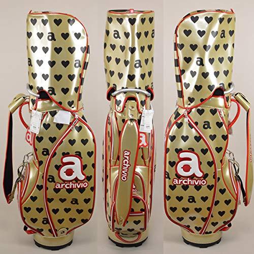 アルチビオ レディース キャディバッグ ゴルフ archivio 810909 119(ゴールド)