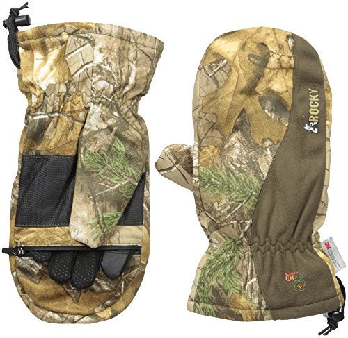 Rocky Men's Prohunter Insulated Zip Finger Hunting Mittens, Realtree Extra Camouflage, X-Large - Camouflage Mitten