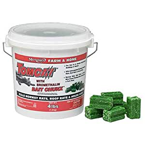 MOTOMCO Tomcat Mouse and Rat Bromethalin Bait Chunx, 4-Pound