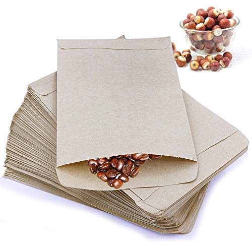 (PRUNS 120 Pieces Seed Packets Blank Seed Envelopes Empty Seed Paper Bags Bulk for Flowers, Wildflower, Party Favors, Wedding, Vegetables, Sunflower (4.7 3.5 Inches))