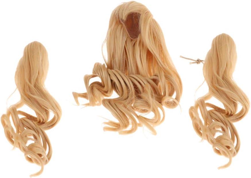 M FLAMEER Mode langes lockiges Haar Per/ücke Haarteil F/ür 1//6 BJD weibliche Puppen DIY Herstellung Zubeh/ör