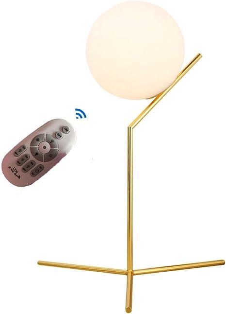Lámpara de mesa bola de cristal sobremesa Dorado de Metal para ...