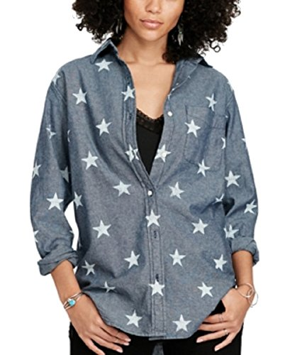 Denim & Supply Ralph Lauren Chambray Boyfriend Shirt (Multi, XS)
