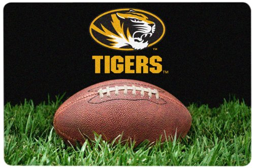 NCAA Missouri Tigers Classic Football Pet Bowl Mat Large
