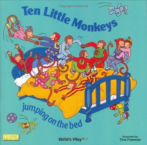 Ten Little Monkeys: Jumping on the Bed [With CD (Audio)] (Classic Books With Holes)